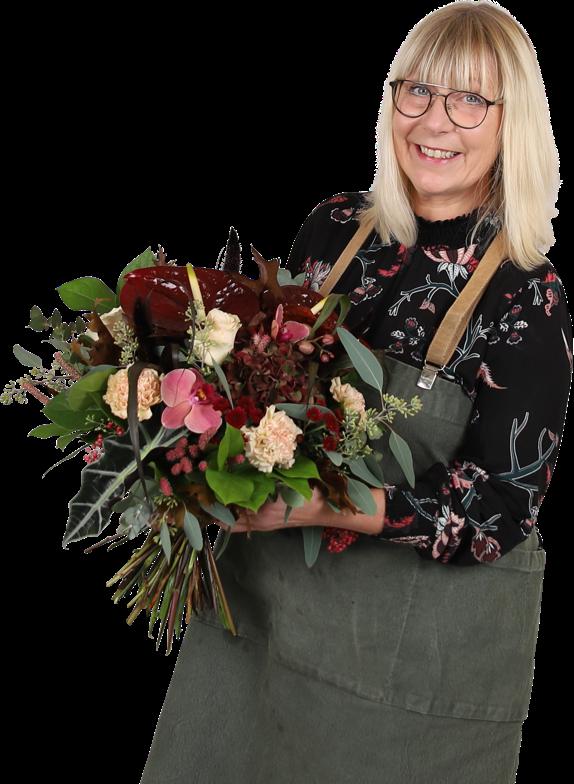 Marie Ekelund ägare av nilssonsblommor.se