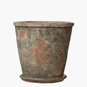 Bim kruka med fat gråmelerad 15,5 cm