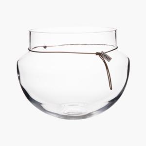 Ernst stor oval glasvas H 20cm D 22cm