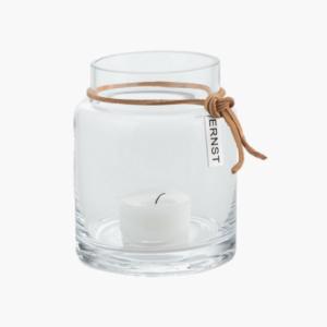 Ljuslykta av glas 8 cm av ernst design