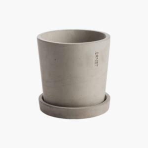 ljusgrå cementkruka 12cm