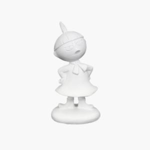 Mumin lilla my figurin vit