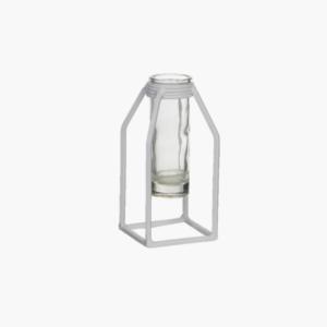 liten-dhaka-single-flower-glasvas-med-vit-stålställning-från-edelman