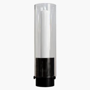 ljuslykta-med-kupa-av-glas-i-svart-metall-fran-ernst-design-26cm