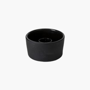 ljusskål-mörkgrå-från-ernst-design-i-stengods-för-kronljus-mått-h5cm-Ø9cm