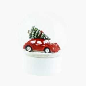 snöglob-bil-stor-med-julgran-på-taket