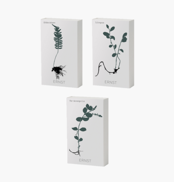 tändsticksaskar-med-långa-tändstickor-från-ernst-design-med-olika-växter-på-som-motiv-600x628