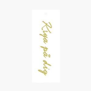 Exklusivt litet blomsterkort/ tag med texten Krya på dig som är framtaget av cardstore.