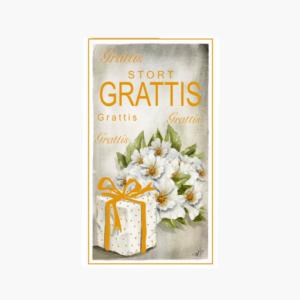 Stort grattiskort designat av Annica Pettersson