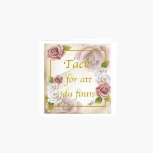 blomsterkort tack för att du finns designat av Annica petterson