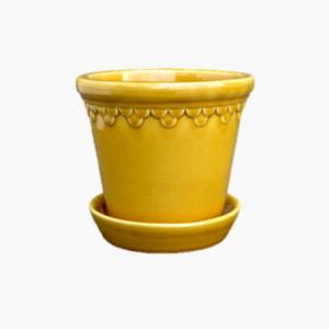 Bergs Potter Copenhagen Yellow amber mellan 14cm
