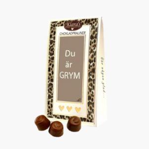Du ar grym. chokladpraliner med cool forpackning fran Klara och Co