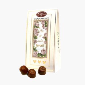 Du är min favorit, chokladpraliner fran Klara och Co