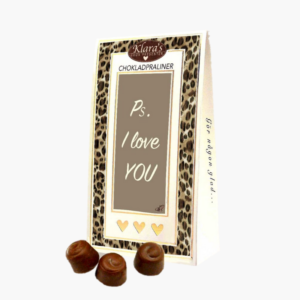 Ps. I love you- utsokt goda chokladpraliner i cool forpackning