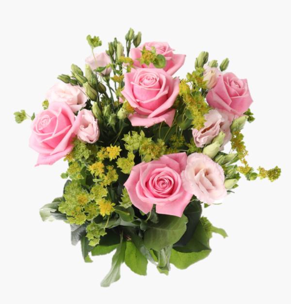 Rosa drommar- för dig som vill uttrycka dina kanslor och nyfunna karlek med en drommande bukett av sagolika rosa rosor till nagon du haller kar.