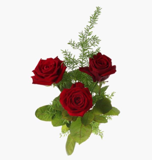 tre sma ord- tre roda rosor med gront- jag langtar efter dig