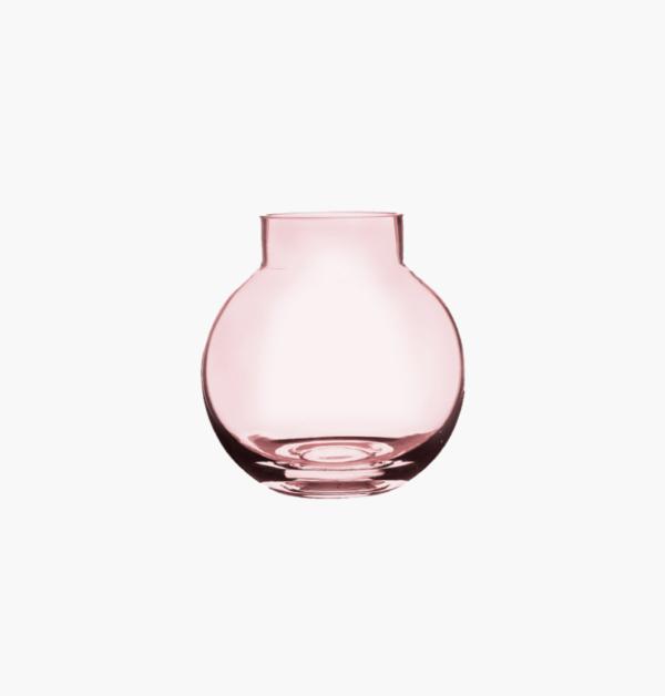 Bubblan liten ljusrosa glasvas