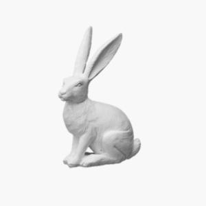 Selma kaninn i vit polyserin fran wikholmform