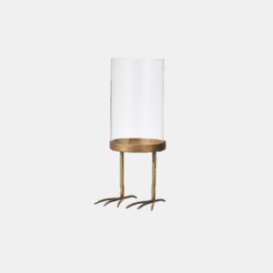 Bird ljuslykta i metall och glas från Wikholmform med måtten, 20 cm Ø 11 cm.