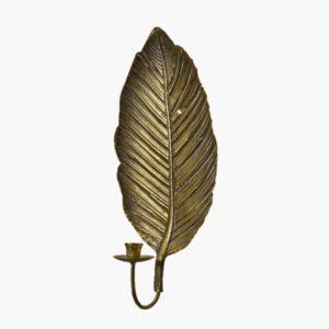 Vagglampett, vaggljusstake i antik massing fran wikholmform formad som ett lov